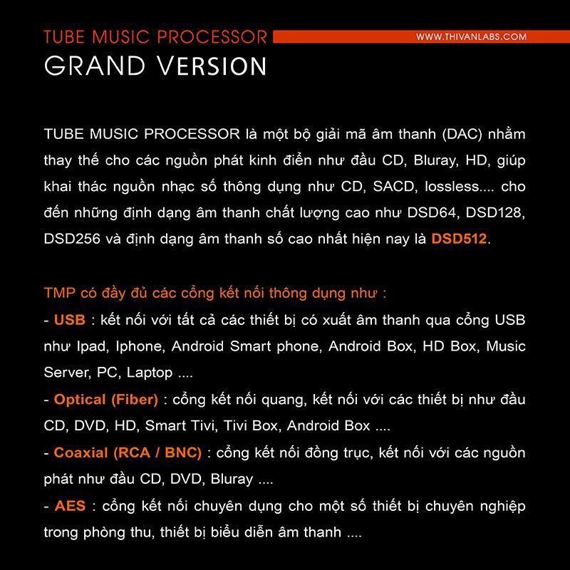Tube Music Processor – GRAND Version 2