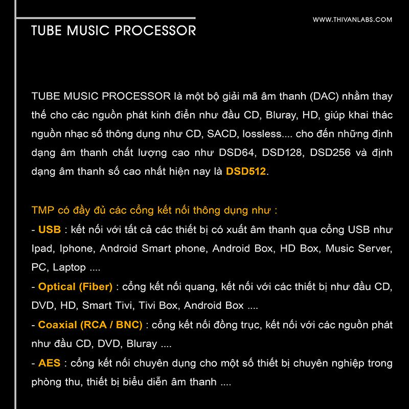 Tube Music Processor – STANDARD-gioi thieu
